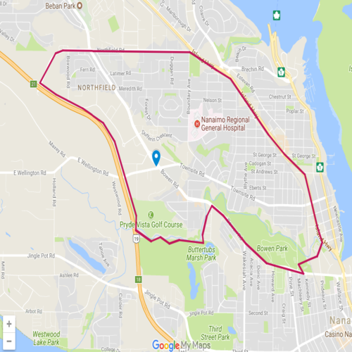 Map of Central Nanaimo