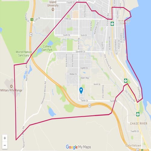 Map of South Nanaimo