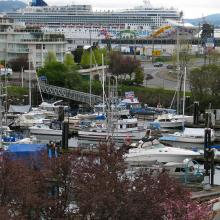 Cruiseship in the Nanaimo harbour