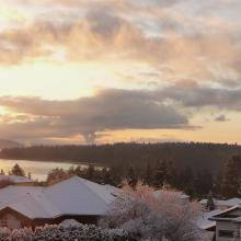 Winter scene of Nanaimo