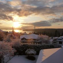 Snowy Nanaimo morning