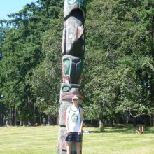 Totem pole at Newcastle Island