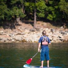 Paddle Boarder in Nanaimo